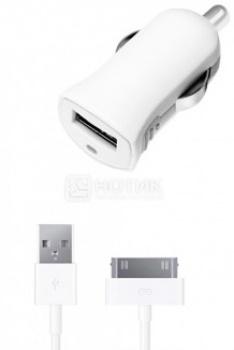 Автомобильное зарядное устройство Deppa 11252 для iPhone, iPad, iPod Apple с разъемом 30-pin, Белый от Нотик
