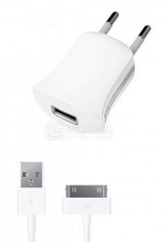 Сетевое зарядное устройство Deppa 11352 для iPhone, iPad, iPod Apple с разъемом 30-pin, Белый НОТИК 550.000