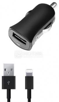 Автомобильное зарядное устройство Deppa 11251 для Apple с разъемом Lightning (8-pin), Черный
