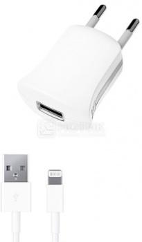 Сетевое зарядное устройство Deppa 11350, MFI для Apple с разъемом Lightning (8-pin), Белый
