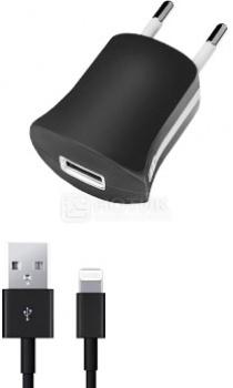 Сетевое зарядное устройство Deppa 11351 для Apple с разъемом Lightning (8-pin), Черный