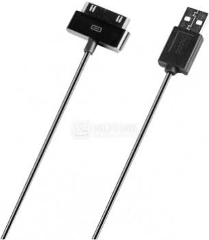 Кабель Deppa 72112 для iPhone, iPad, iPod Apple 30-pin/USB, 1,2м, Черный кабель usb ozaki для iphone ipod ipad черный 1 0м ot222abk