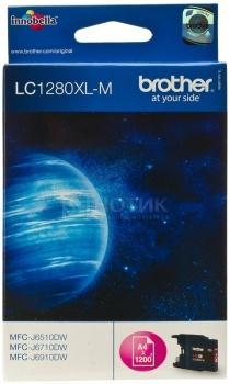 Картридж Brother LC-1280XLM для MFCJ5910 6510 6910 1200с пурпурный LC1280XLM