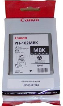 Картридж Canon PFI-102MBK для IPF-500 600 700 120 стр., Черный матовый 0894B001