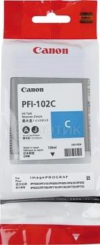 Картридж Canon PFI-102C для IPF-500 600 700 120 стр. Голубой 0896B001