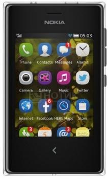 Смартфон Nokia Asha 503 Black (Nokia Asha 1.1/ 1200MHz/3.0