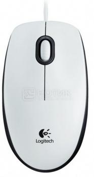 Мышь проводная Logitech B100 910-003360, 800dpi, Белый