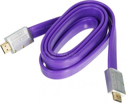 Кабель Ningbo HDMI 1.4 19M/19M 3м, Фиолетовый 841171 НОТИК 390.000
