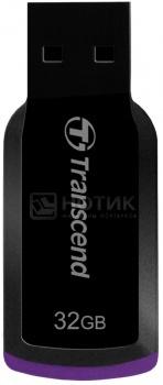 Флешка Transcend 32Gb JETFLASH 360 (TS32GJF360), Черный/ Фиолетовый, арт: 33216 - Transcend