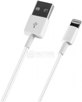 Кабель Deppa 72128, MFI для iPhone, iPad, iPod Apple USB/Lightning port, 1,2м, Белый