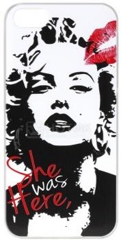 Чехол-накладка Anzo Marilyn Monroe для iPhone 5/5S, Пластик, Белый 1955-F400 НОТИК 700.000