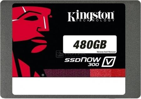 """Внутренний SSD-накопитель Kingston V300 SV300S37A/480G 480Gb 2.5"""" SATA-III, Черный, арт: 33866 - Kingston"""