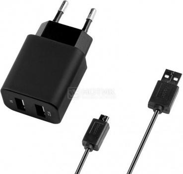 Зарядное устройство Deppa 11303, USB/micro USB Черный