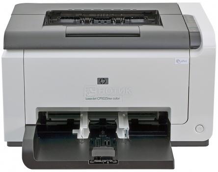 Принтер лазерный цветной HP Color LaserJet CP1025nw А4 16/4 стр/мин 64MB USB LAN Wi-Fi CE918A