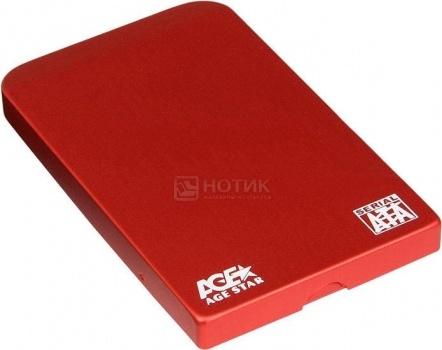 "Внешний бокс для 2.5"" HDD AgeStar 3UB2O1 USB 3.0, Красный"