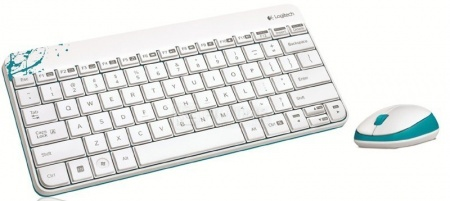Комплект беспроводной клавиатура+мышь Logitech Wireless Combo MK240 920-005791, Белый