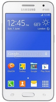 "Смартфон Samsung Galaxy Core 2 Duos SM-G355 White (Android 4.4/MSM8225 1200MHz/4.5"" (800x480)/768Mb/4Gb/ 3G (EDGE, HSDPA, HSPA+)) [SM-G355HZWDSER] от Нотик"