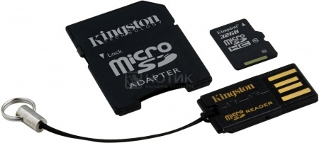 Карта памяти Kingston microSDHC 32Gb Mobility Kit Class10 MBLY10G2/32GB НОТИК 990.000