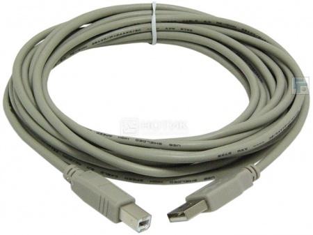 Кабель Behpex USB 2.0 A(m)-B(m) 5м, Серый НОТИК 100.000