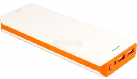 Аккумулятор универсальный iconBIT FTB13000 LZ, 13200 мАч, Белый/Оранжевый НОТИК 1600.000