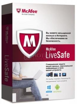 Программный продукт McAfee LiveSafe Promo BOX BOXMLS139001RAA