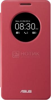 Чехол + накладка Asus для ZenFone 5 View Flip Cover, Полиуретан/Поликарбонат, Красный 90XB00RA-BSL0M0 НОТИК 1290.000