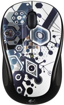 Мышь беспроводная Logitech M325 Fusion Party 910-003895, 1000dpi, Черный/Белый НОТИК 1400.000