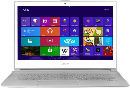 Ультрабук Acer Aspire S7-392-54208G12tws (13.3 IPS (LED)/ Core i5 4200U 1600MHz/ 8192Mb/ SSD 128Gb/ Intel HD Graphics 4400 64Mb) MS Windows 8 (64-bit) [NX.MBKER.006] НОТИК 58990.000