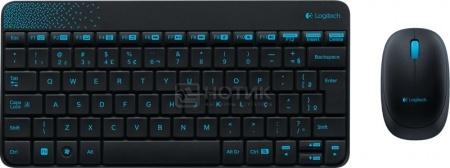 Комплект беспроводной клавиатура+мышь Logitech Wireless Combo MK240 920-005790, Черный