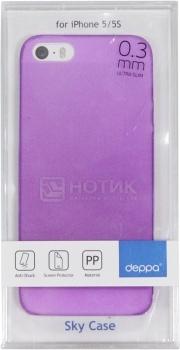 Чехол-накладка для iPhone 5/5S Deppa Sky Case, Пластик, Фиолетовый 86008 НОТИК 590.000