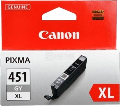 Картридж Canon CLI-451GY XL для iP7240 MG5440 MG5540 MG6340 MG6440 MG7140 MX924 665стр Серый 6476B001 от Нотик