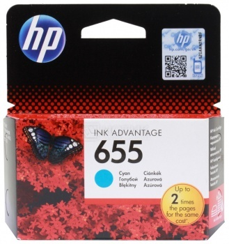 Картридж HP 655 для DeskJet IA 3525 4615 4625 5525 6525, Голубой, 600стр. CZ110AE compatible ciss for hp655 hp 655 for hp deskjet 4615 4625 3525 5525 with ink level chip