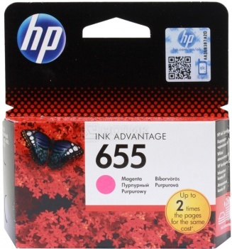 Картридж HP 655 для DeskJet IA 3525 4615 4625 5525 6525, Пурпурный, 600стр. CZ111AE compatible ciss for hp655 hp 655 for hp deskjet 4615 4625 3525 5525 with ink level chip