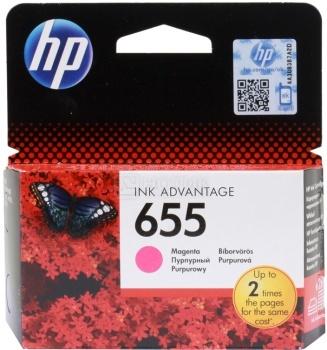 Картридж HP 655 для DeskJet IA 3525 4615 4625 5525 6525, Пурпурный, 600стр. CZ111AE