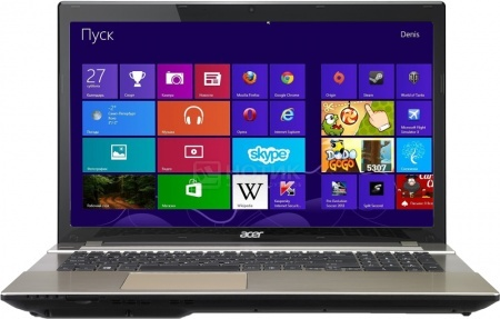 Ноутбук Acer Aspire V3-772G-54216G1TMamm (17.3 LED/ Core i5 4210M 2600MHz/ 6144Mb/ HDD 1000Gb/ NVIDIA GeForce GTX 850M 2048Mb) MS Windows 8.1 (64-bit) [NX.MMBER.001] НОТИК 34690.000