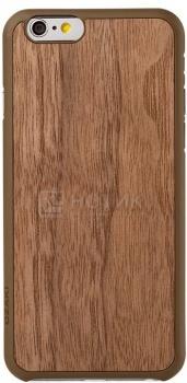 Чехол-накладка для iPhone 6 Ozaki O!coat 0.3+Wood OC556WT, Пластик, Коричневый НОТИК 1050.000