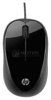 Мышь проводная HP X1000 H2C21AA, 1600dpi, Черный