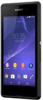 Смартфон Sony Xperia E3 Black (Android 4.4/MSM8226 1200MHz/4.5