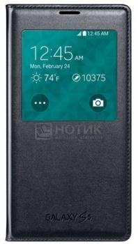 Чехол Samsung S View Cover EF-VG900BBRGRU для зарядки Samsung Galaxy S5 SM-G900F, Полиуретан, Черный НОТИК 2690.000