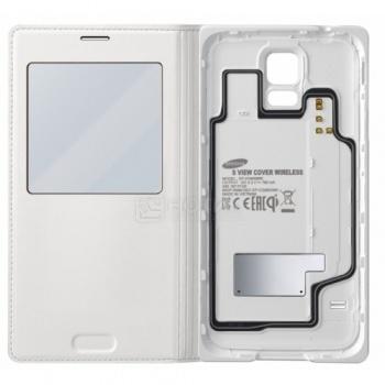 Чехол Samsung S View Cover EF-VG900BWRGRU для зарядки Samsung Galaxy S5 SM-G900F, Полиуретан, Белый НОТИК 2690.000