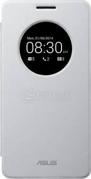 Чехол Asus для ZenFone 5 View Flip Cover, Поликарбонат, Белый 90XB00RA-BSL1X0