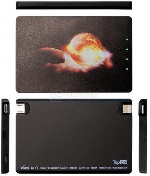 Внешняя аккумуляторная батарея TopON для iPhone/iPod TOP-CARDUO 1020мАч Черный