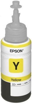 Картридж Epson T66444A для L100 L110 L120 L1300 L200 L210 L300 L350 L355 L550 70мл 250 стр, Желтый C13T66444A