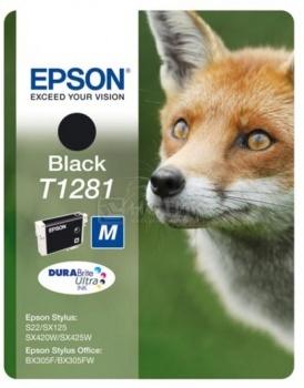 Картридж Epson T1281 для S22 SX130/230/420W/425W BX305F/305FW 270стр, Черный C13T12814011