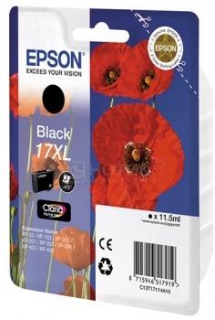 Картридж Epson 17XL для Epson XP-33 103 203 207 303 306 403 406 470стр, Черный C13T17114A10