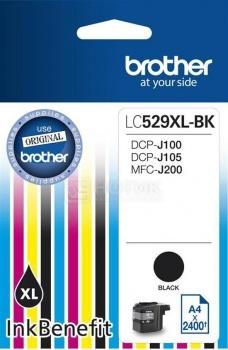 Картридж Brother LC-529XLBK для DCP-J100 DCP-J105 MFC-J200 2400стр Черный LC529XLBK