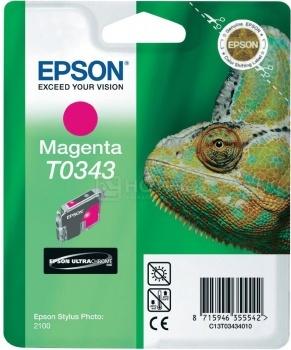 Картридж Epson T0343 для Stylus Photo 2100, Пурпурный C13T03434010
