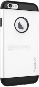 Чехол-накладка Spigen SGP для iPhone 6 Slim Armor Shimmery White SGP10957 Полиуретан, Белый от Нотик