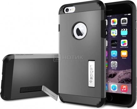 Фотография товара чехол-накладка Spigen SGP для iPhone 6 Plus/iPhone 6s PlusTough Armor Gunmetal SGP11053 Полиуретан, Темно-серый (37157)