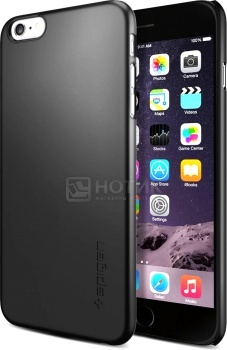 Чехол-накладка Spigen SGP для iPhone 6 Plus black SGP11102 Полиуретан, Черный от Нотик